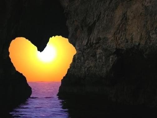 Sun through a heart.