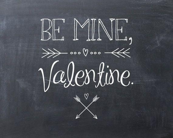 "Valentine's Day Printable ""Chalkboard"" Art"