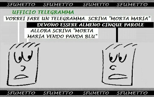 #barzelletta #vignetta #battuta #ridere #telegramma #avaro