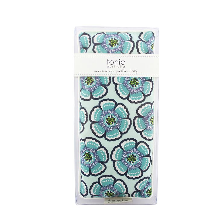 Flora Sea Green Eye Pillow - Relaxation and Rejuvenation - Filled with lavender and flaxseed