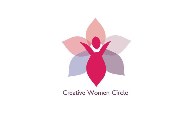 creative woman circle logo