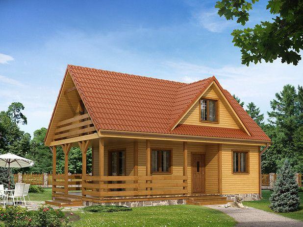 Drewniany, ekologiczny oraz funkcjonalny - idealny dla 4-5 osobowej rodziny. Obejrzyj rzuty!