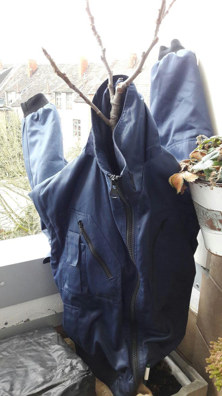 Amazing Im Winter muss ein Schutz f r die Balkonpflanzen her Alte Jacken eignen sich hervorragend zum