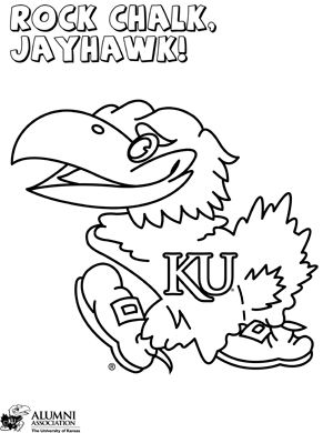 Rock Chalk Jayhawk Coloring Pages