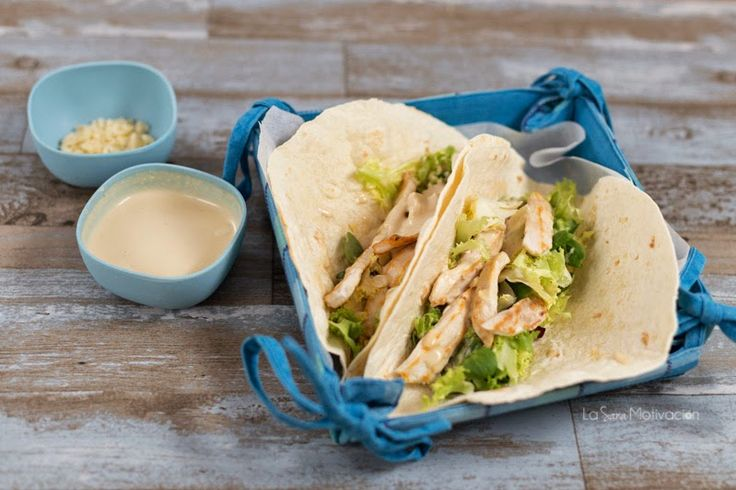 Los rollos del César #receta #salsacésar #tacos #wraps #rollitos #pollo #recetafácil #chicken