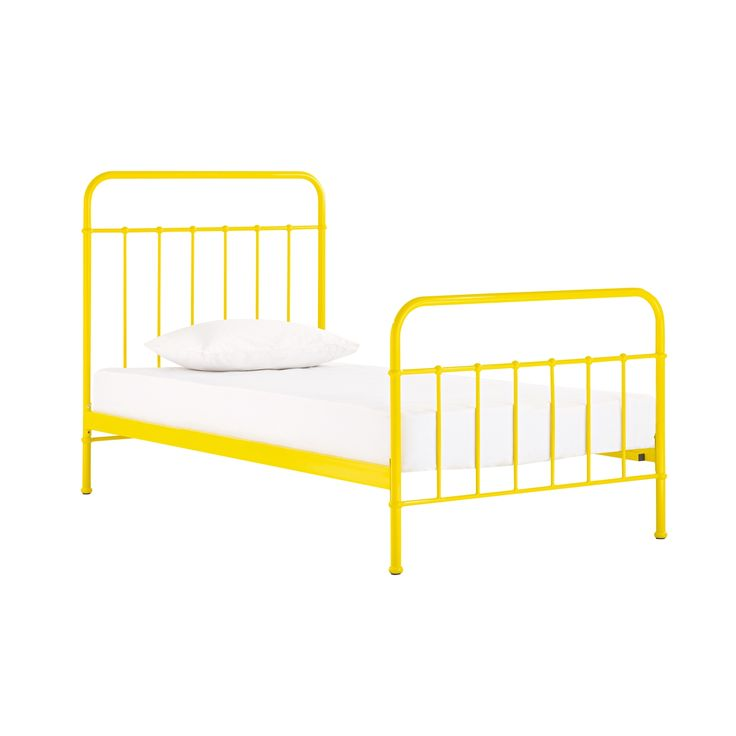 potentially faddish sunday sunshine yellow bed frame from domayne