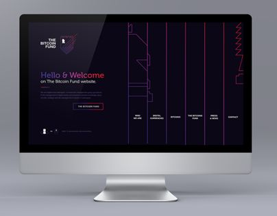 The Bitcoin Fund web design