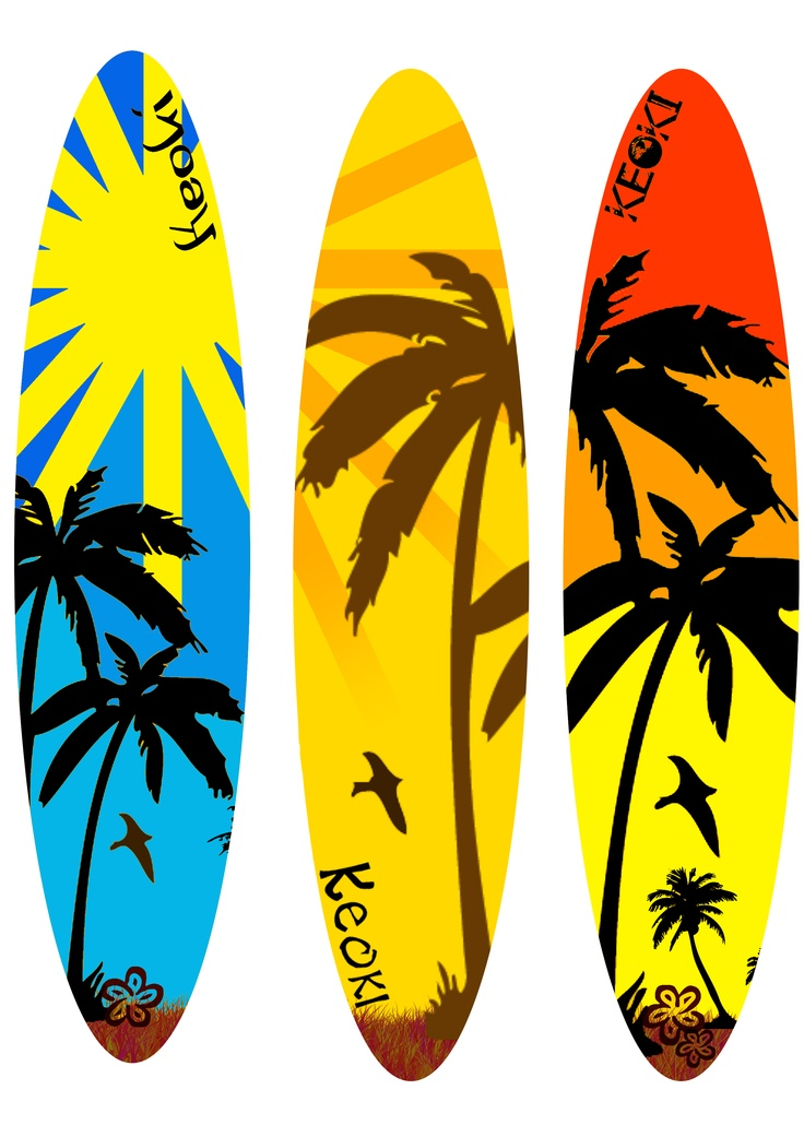 Surfboard Designs on beach themed wall decor
