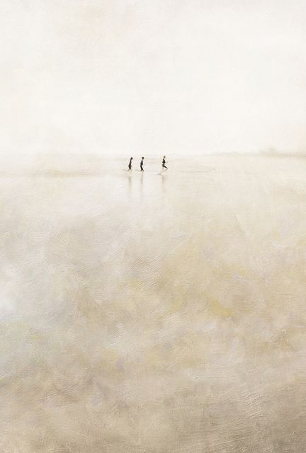 photograph three girls running  by paul grand  PP with Flypaper Spring Painterly Textures