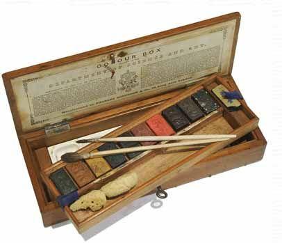 antique watercolor box