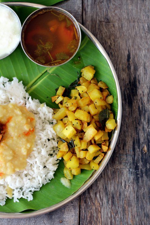 Potato fry recipe, South Indian style that's easy & tasty made with minimal ingredients
