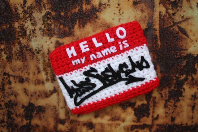 """Stickers """"Hello My Name Is"""". Tous droits réservés - Miss Veneno."""