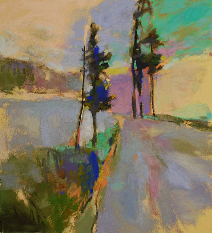 "Illuminated Mad River, 14"" x 12.5."" Casey Klahn."