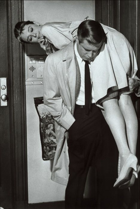 """Breakfast at Tiffany's"" (Audrey Hepburn and George Peppard)"