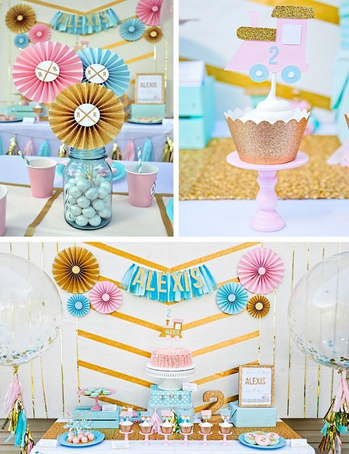 Glam Vintage Train Party with Such Cute Ideas via Kara's Party Ideas | KarasPartyIdeas.com #GirlyTrainParty #PartyIdeas #Supplies (1)