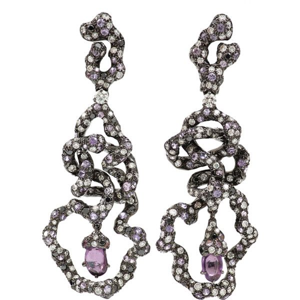 Arunashi Pink Sapphire Free Form Earrings (€24.935) ❤ liked on Polyvore featuring jewelry, earrings, 18k jewelry, pink sapphire earrings, 18 karat gold jewelry, 18k earrings and 18 karat gold earrings