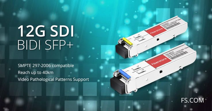"""Specifically designed for robust performance in the presence of SDI pathological patterns for SMPTE 297-2006, the 12G SDI BIDI SFP+ can meet your requirements for HD camera or monitor system and high-density digital video router & switches.""https://goo.gl/fXtbuA"
