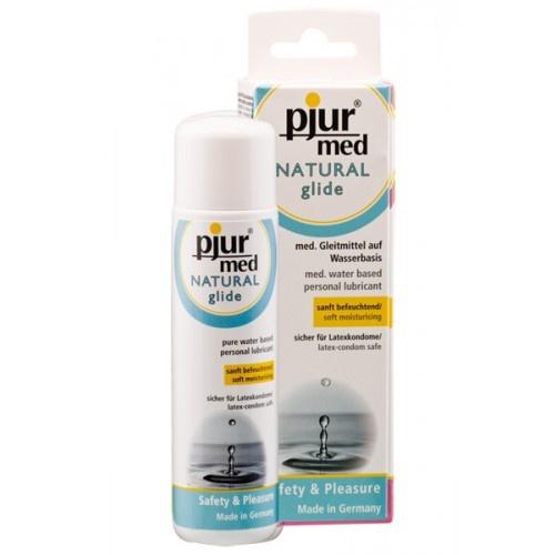 Pjur glidemiddel Med Natural er et vannbasert glidemiddel som varer og varer og samtidig beskytter huden. Dette er det beste vannbaserte glidemiddel på markedet mener vi. Fordi den er glatt lenge og har bare naturlige ingredienser.