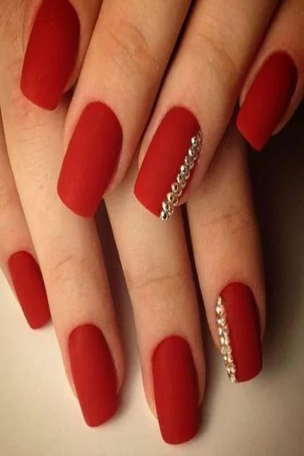 Extremely Inspiring Ideas Red Manicure For Short Nails Red Nails Red Manicure Valentines Nails