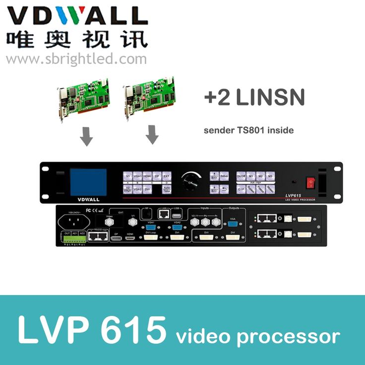 (887.70$)  Know more  - vdwall lvp615 video processor and 2 pc linsn ts802  scaler PRICE led video wall controller transmitting card led