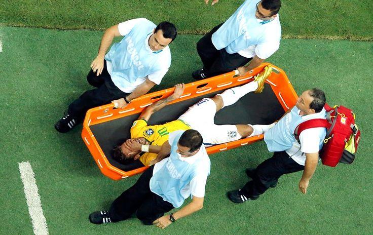 Neymar fora da copa. O Brasil está com vc como sempre esteve #ForçaNeymar Campeões são feitos não só dentro de campo.