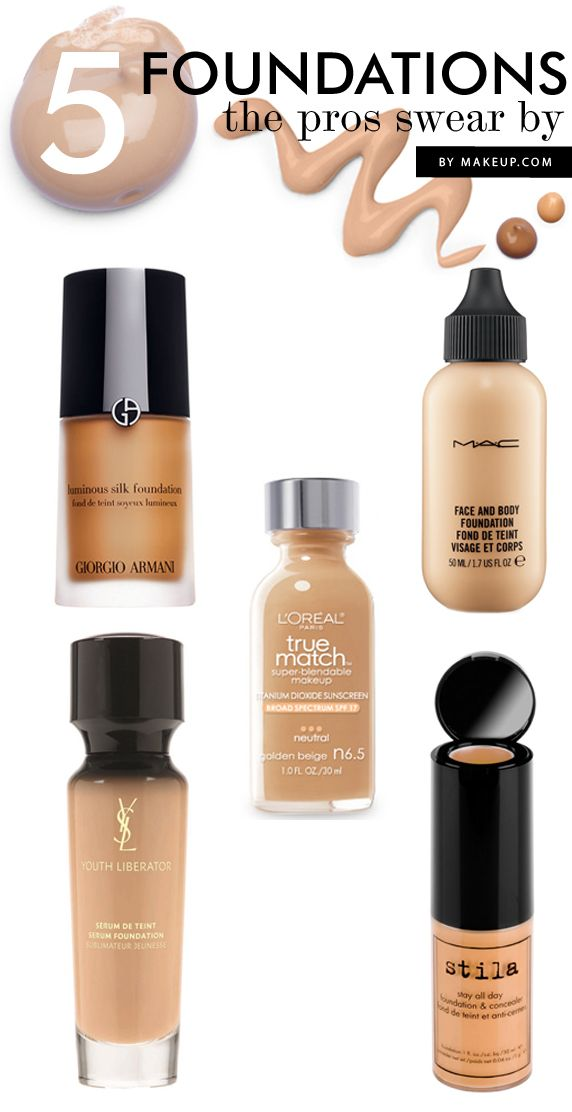 Five of the best foundations professional makeup artists swear by.