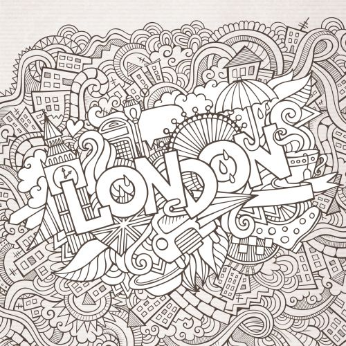 Black And White Doodle Adult Coloring