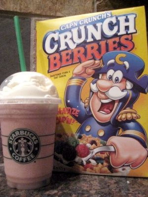 ✔ Captain Crunch Frappuccino - I kid you not, this smells EXACTLY like the cereal and tastes heavenly.
