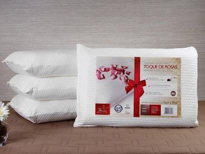 Travesseiro Performance de Látex Toque de Rosas - 2 Peças Fibrasca 4825 com as melhores condições você encontra no Magazine Rioleal. Confira!