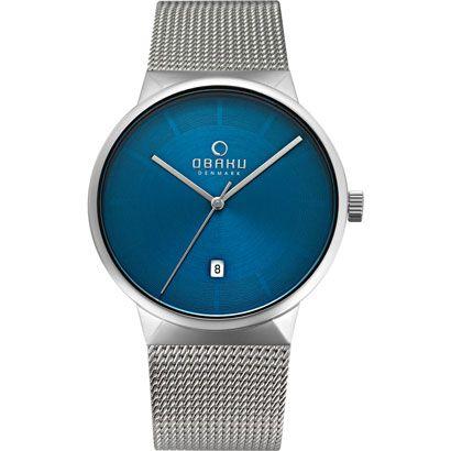 OBAKU Hav - cyan // blue and stainless steel watch