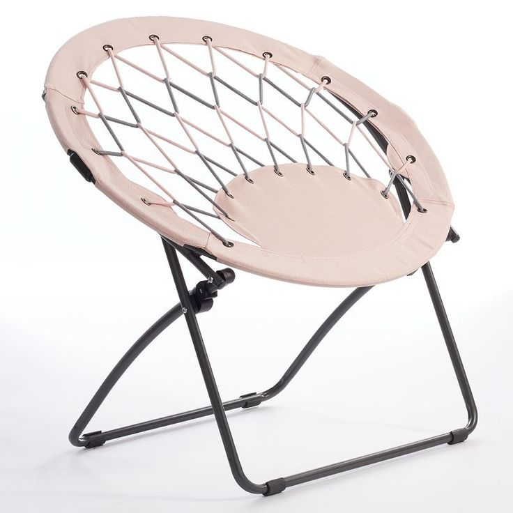 Simple By Design Circle Bungee Chair, Pink