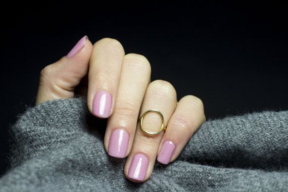 Harmonia midi ring Gold filled 14k Midi Ring by NARCISSUSJEWELRY