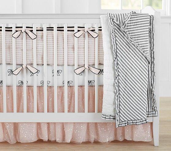 The Emily & Meritt Sparkle Tulle Crib Skirt | Pottery Barn Kids