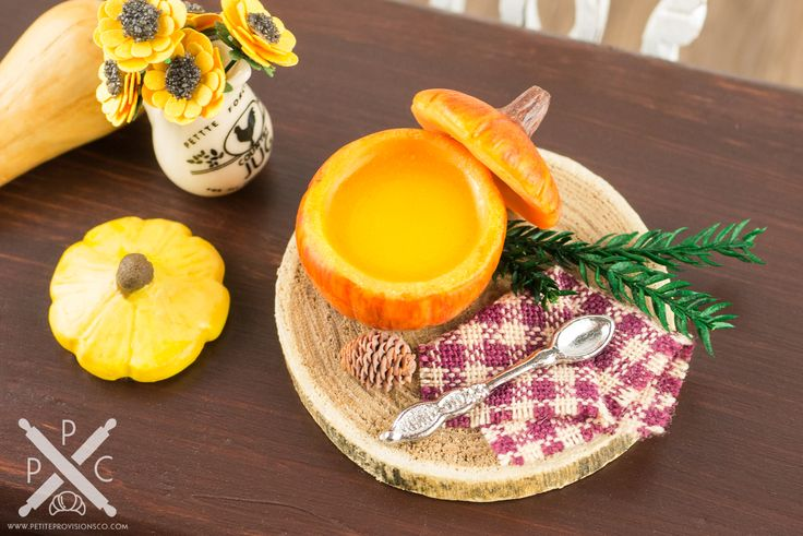 Rustic Pumpkin Soup Tureen with Pine Cone & Bough - The Petite Provisions Co.
