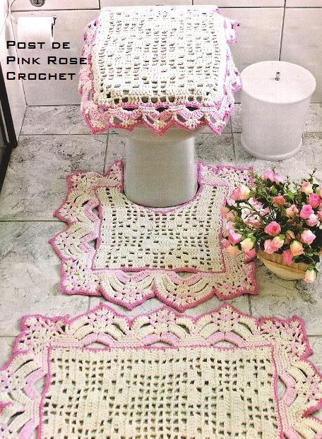 Tapete de Croche p Banheiro - PRoseCrochet