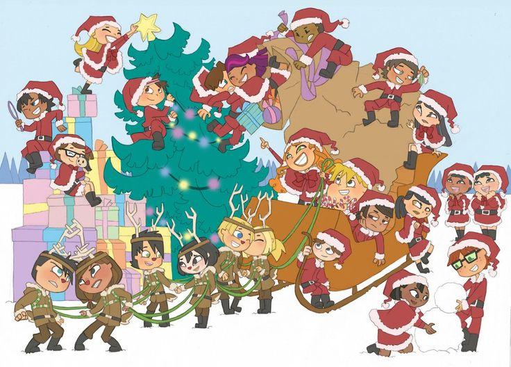 total drama island christmas
