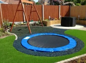 A safe way to implement a trampoline to the yard... All the while keeping your curb appeal