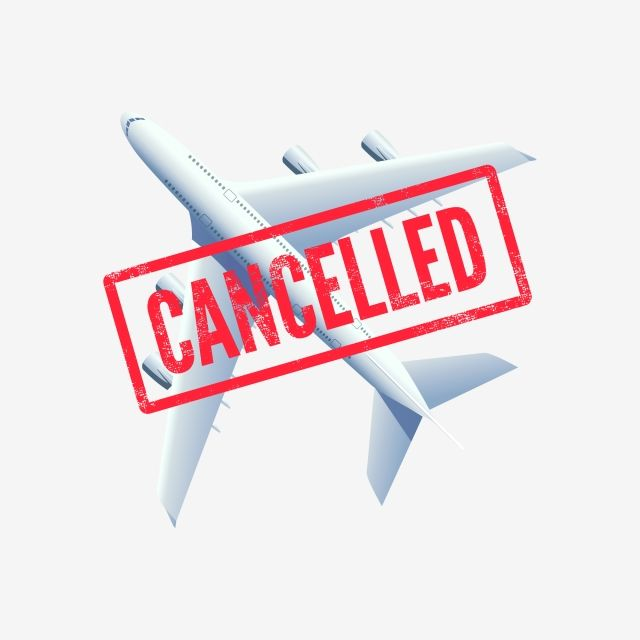 Flight Canceled Plane With Stamp Cancelled Air Airplane Airport Png And Vector With Transparent Background For Free Download Stamp Vector Stock Vector