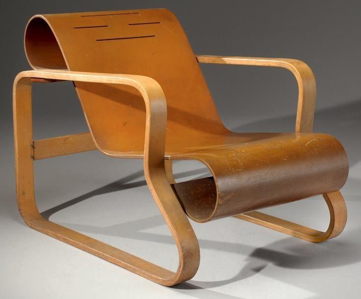 Alvar Aalto, Fauteuil Paimio modèle N°41, 1931-1932