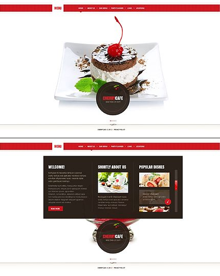 Cafe Website Template #food #restaurant http://www.templatemonster.com/website-templates/41558.html?utm_source=pinterest&utm_medium=timeline&utm_campaign=cafe