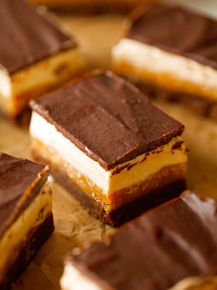 Four Layer Everything Crunch Bars via Deliciously Yum!