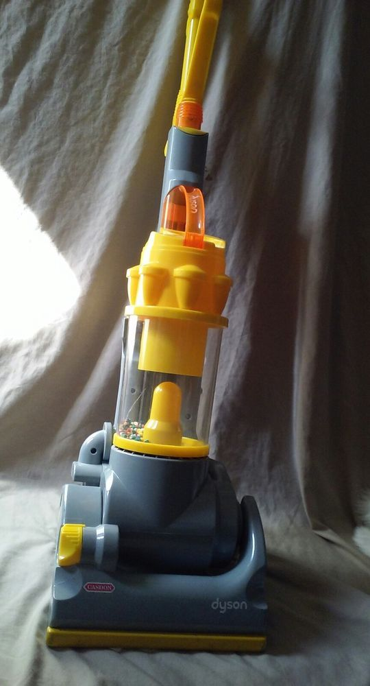 Working Casdon Yellow Dyson Vacuum Cleaner Pretend Play Toy w/ Sound & Action #Casdon #toys #toyvacuum