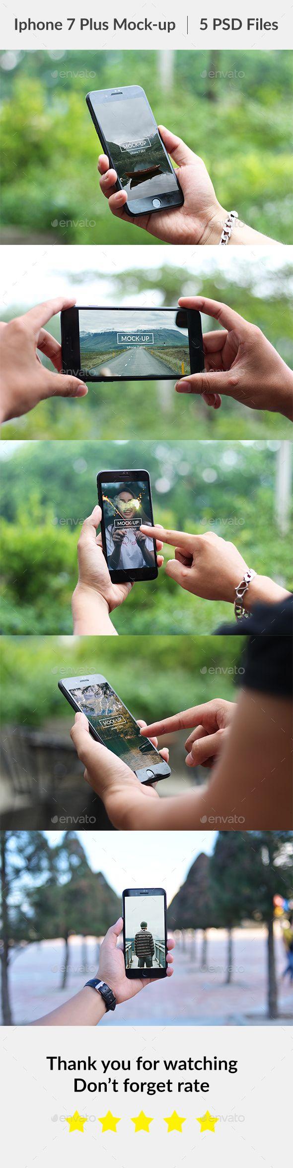 Phone 7 Plus Hand on Mockup