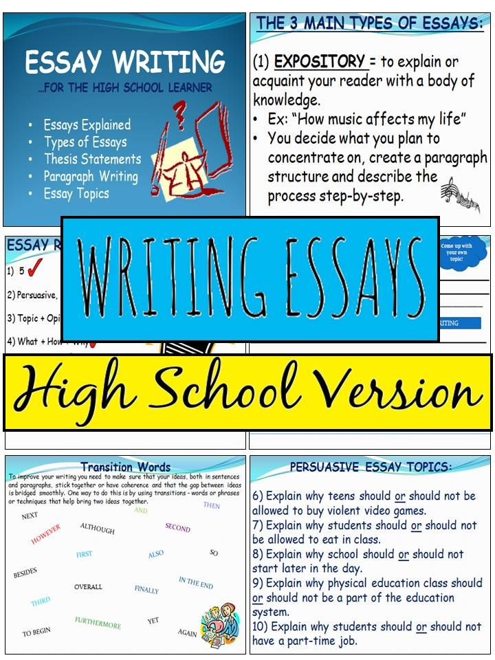 essay examples free high school