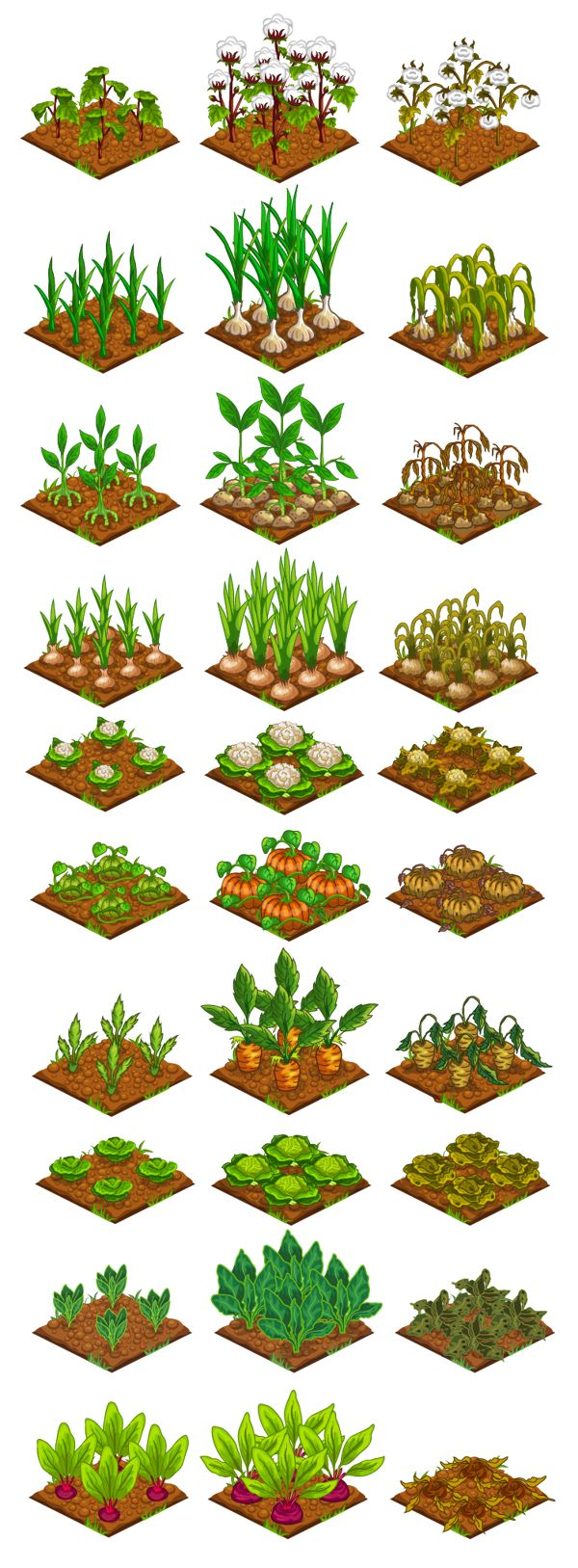 """Farmster"" Game Art by FULDEN BİLGİÇATAÇ, via Behance"