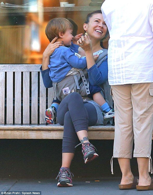 Alyssa Milano clowns around with her adorable son Milo during family ...                                                                                                                                                                                 More