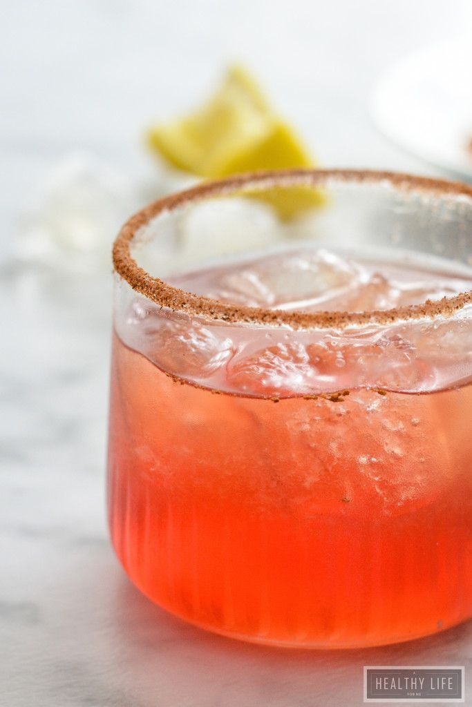 Amaretto Cranberry Spice Cocktail - A Healthy Life For Me