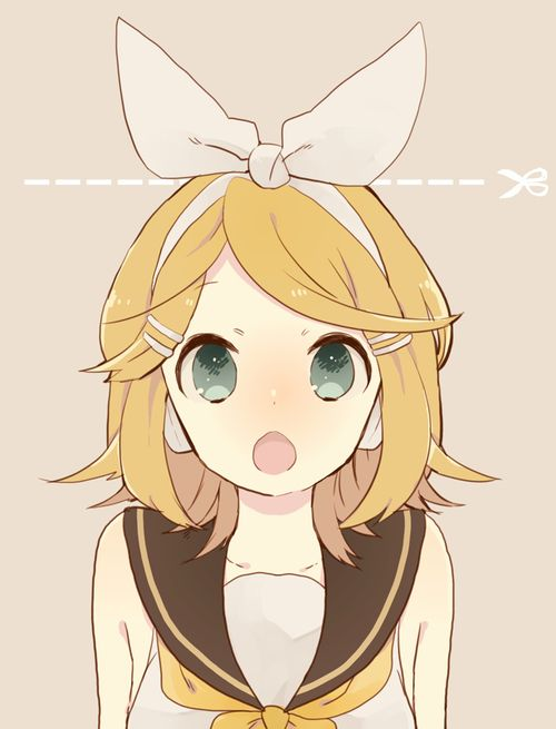ohh I haven't posted this pic? Kagamine Rin (VOCALOID ...  |Rin Kagamine Anime