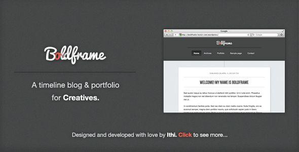 Boldframe - blog & portfolio for Creatives