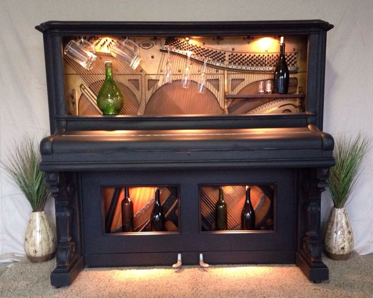 Best 25 piano bar ideas on pinterest piano bar near me for Repurposed antiques ideas
